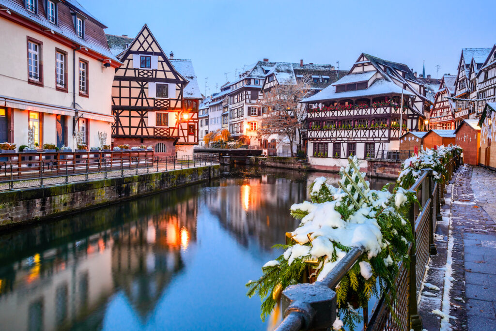 A canal in Strasbourg, France