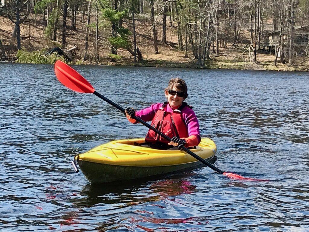 Kayaking in the Delaware River.