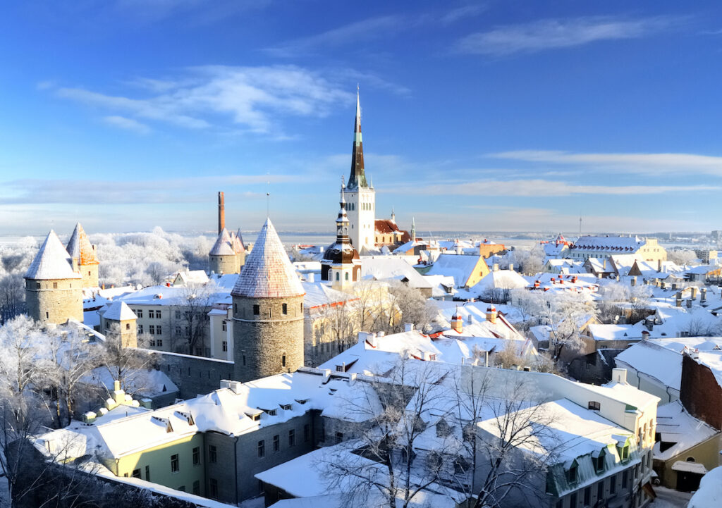Winter in Tallinn, Estonia