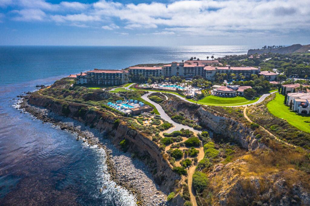Aerial Shot Of Terranea Resort in Rancho Palos Verde, California