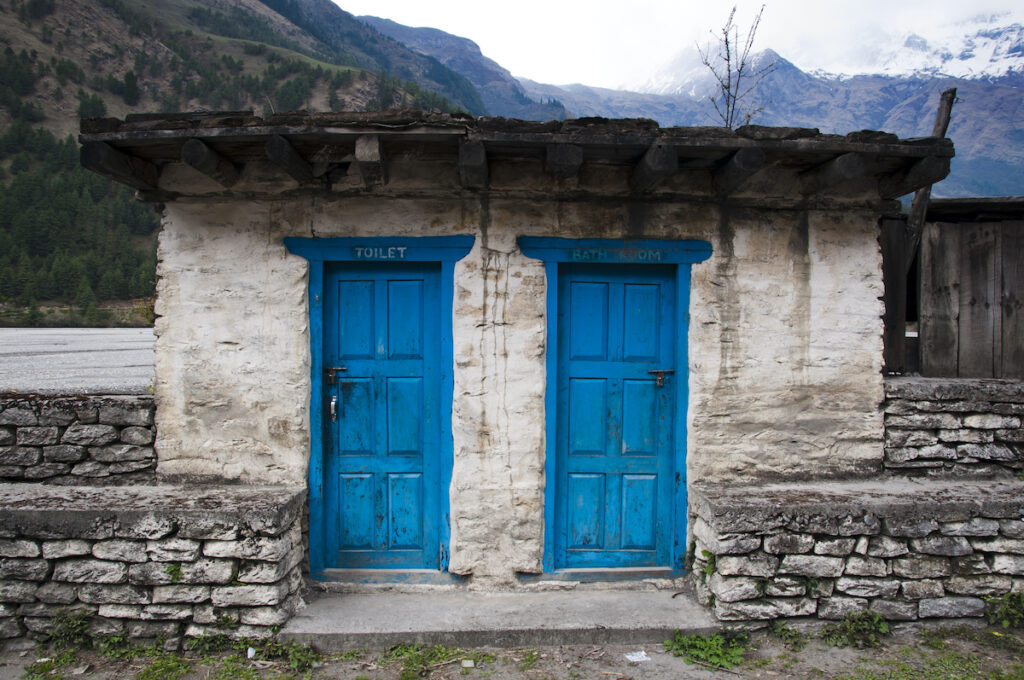 Toilet in the village of Annapurna, Nepal