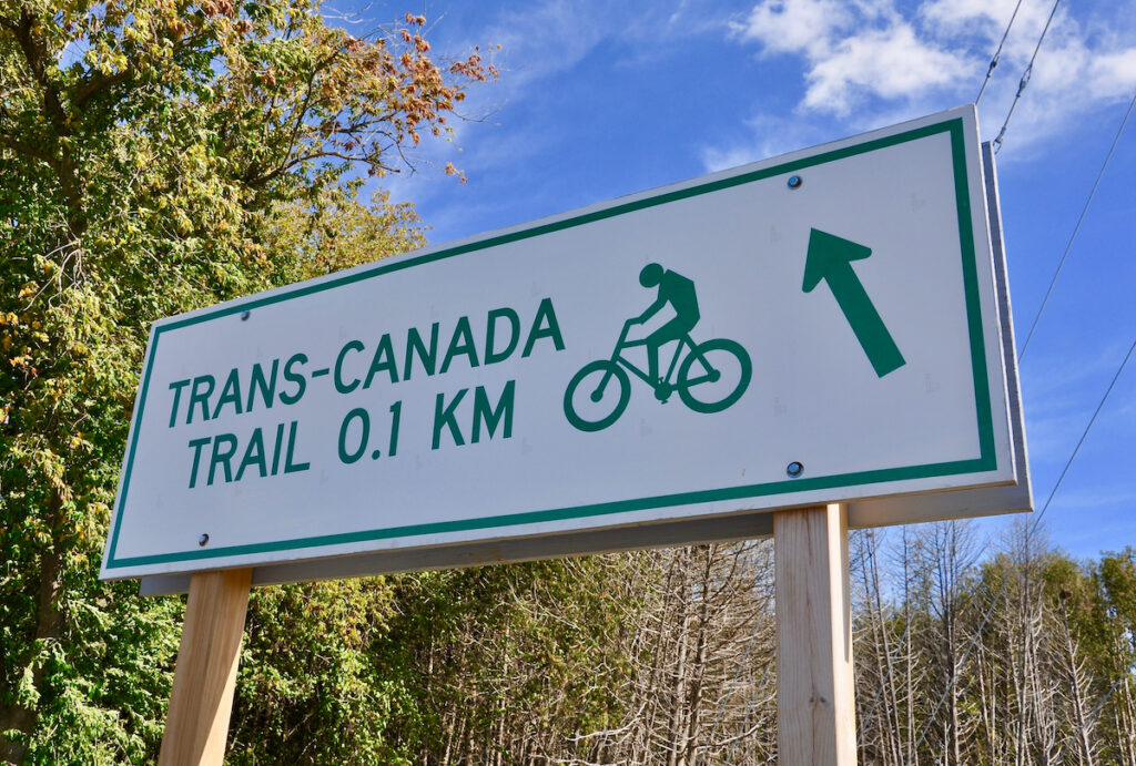 Sign for the Trans-Canada Trail