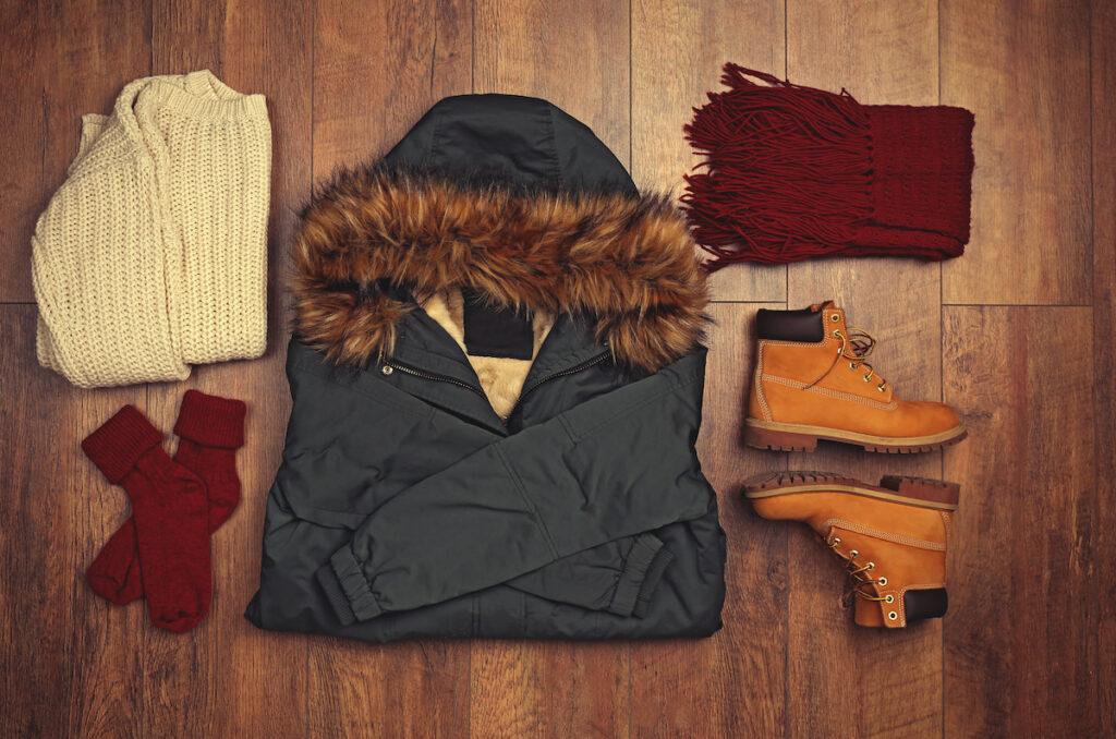 A set of warm clothes