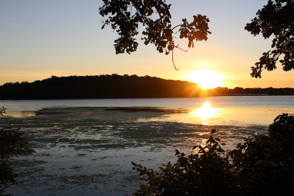Sunset at West Okoboji Lake in Iowa