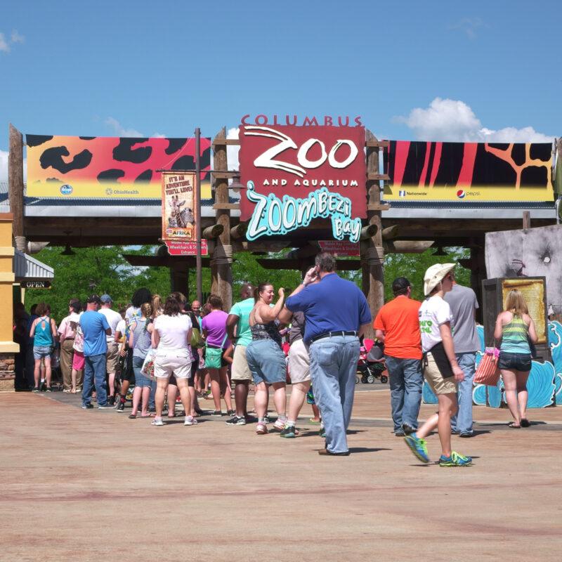 Columbus Zoo and Aquarium entrance, Ohio.