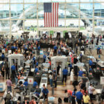 Long TSA lines, Denver International Airport.