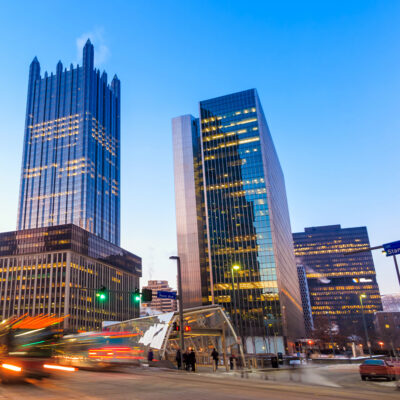 Downtown Pittsburgh, Pennsylvania.