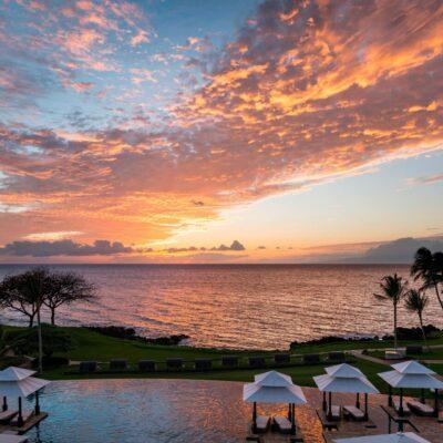 View of sunset from Wailea Beach Resort - Marriott, Maui
