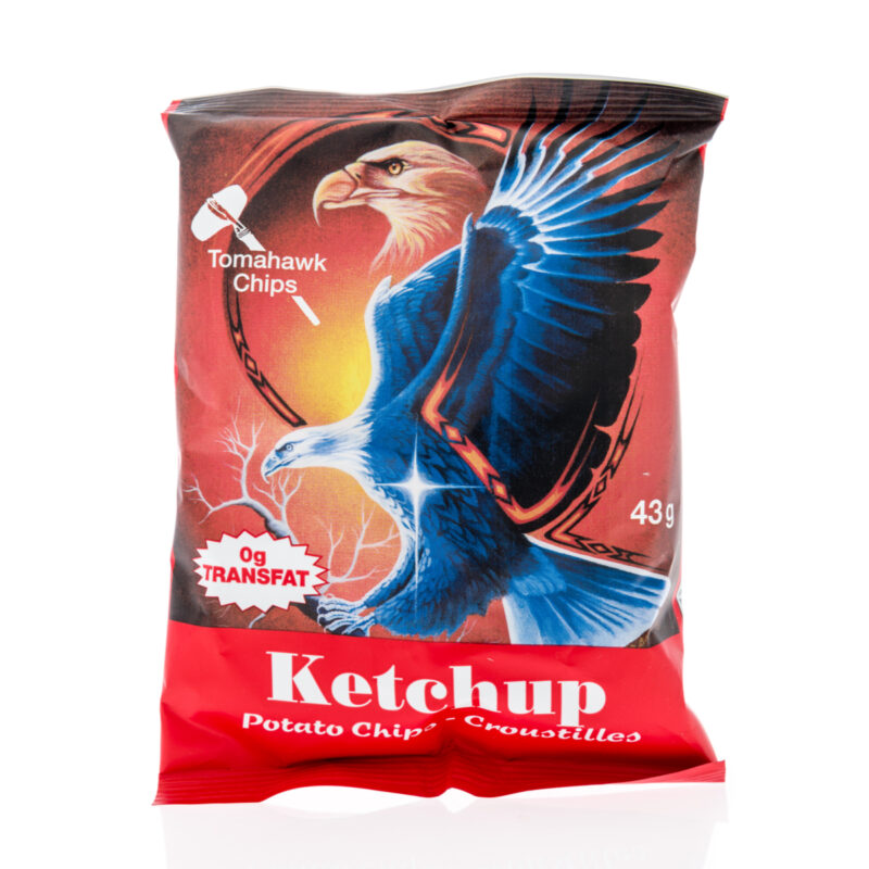 Ketchup chips, a popular Canadian chip flavor.