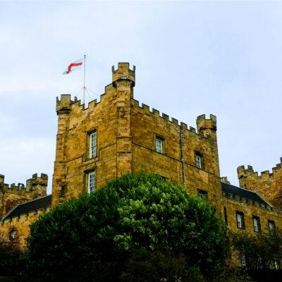 Lumley Castle, a purportedly haunted hotel near Durham, England.
