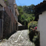 A cobblestone walkway in San Sebastian al Oeste, Puerto Vallarta, Mexico