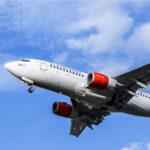 Scandinavian Airlines flight.