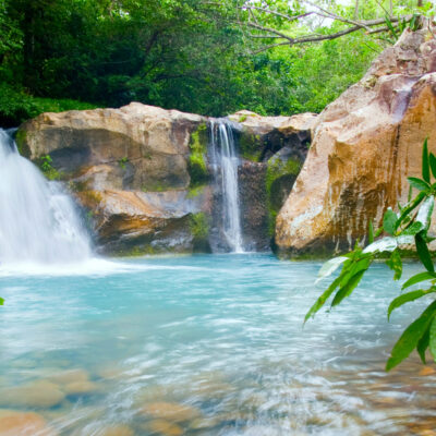 Waterfall At The Rincon De La Vieja National Park in Costa Rica
