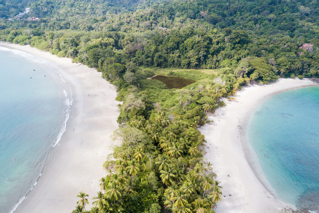 Both beaches of National Park Manuel Antonio, Costa Rica.