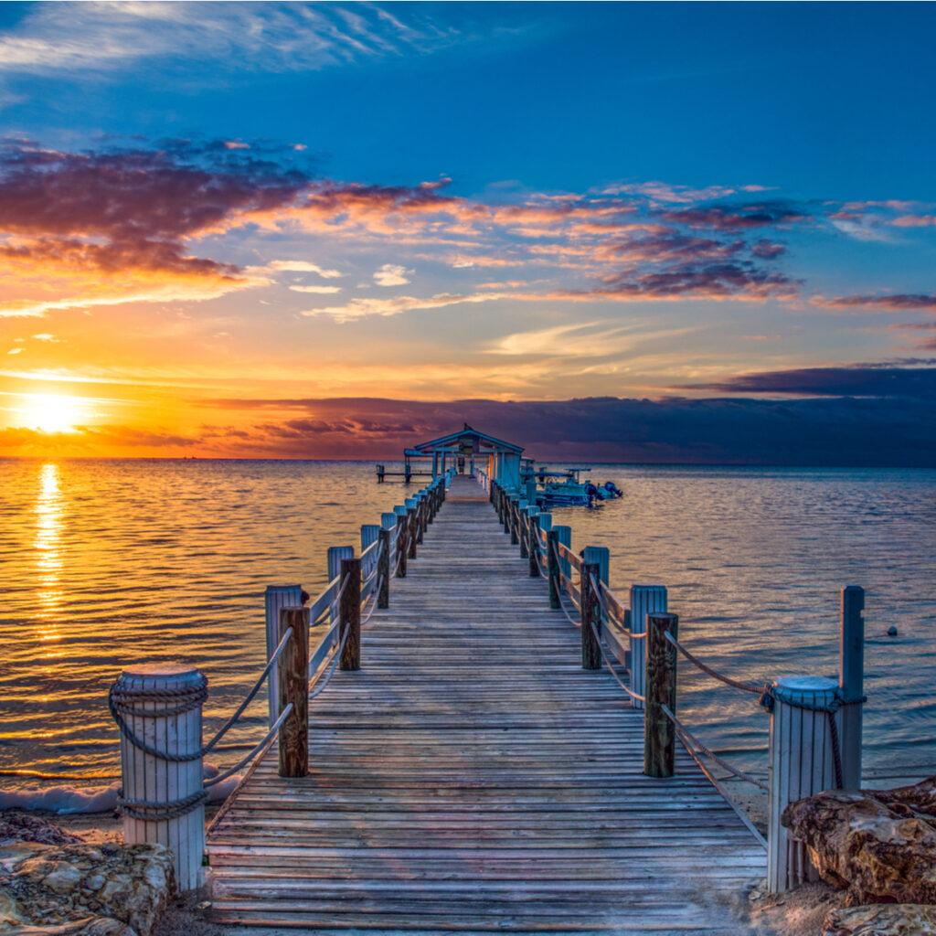 Islamorada Florida Keys Dock Pier Sunrise.