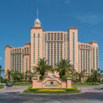 Orlando, Florida. July 16, 2019. Panoramic view of JW Marriott hotel at John Yaung Parkway area 8.