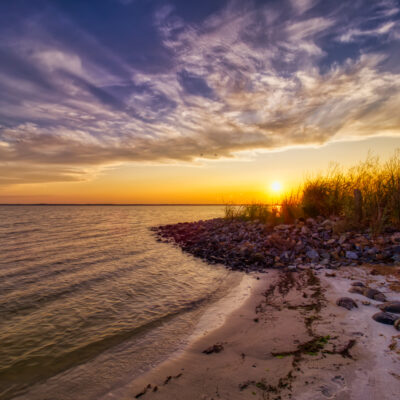 Sunset at Rehoboth Bay, Delaware