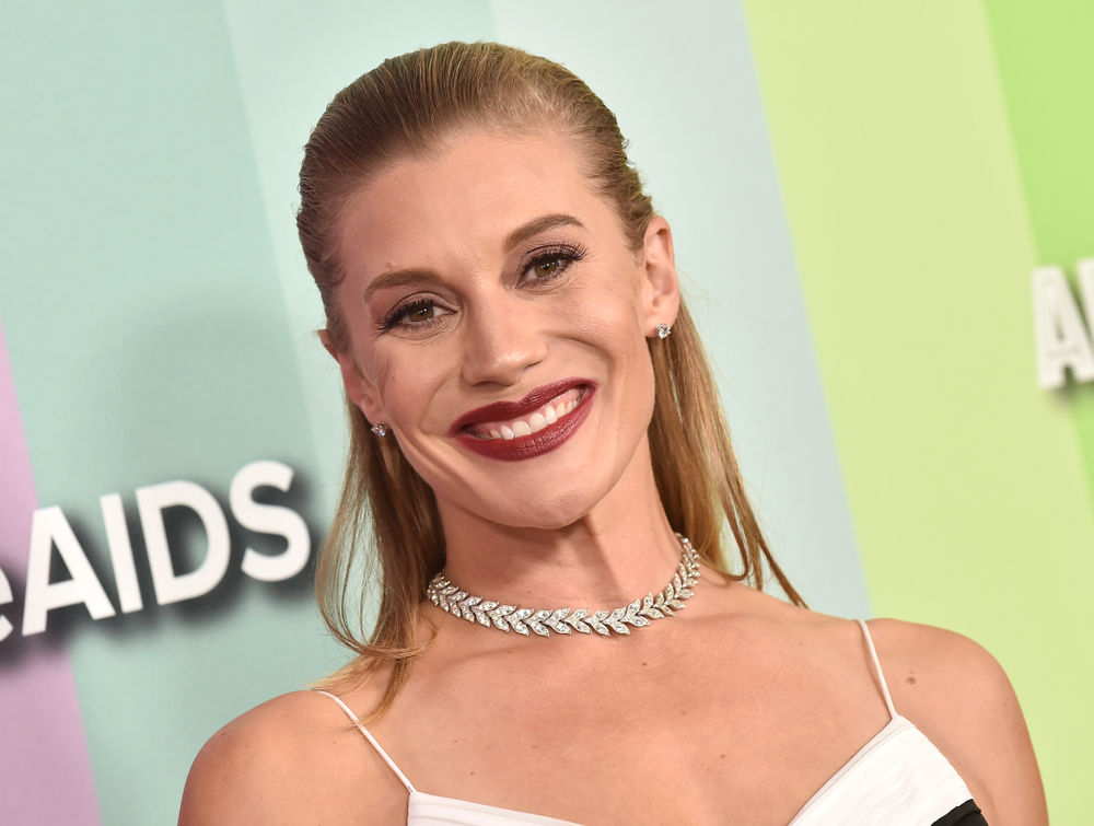 Katee Sackhoff at the 2019 amFAR Gala on October 10, 2019 in Hollywood, CA