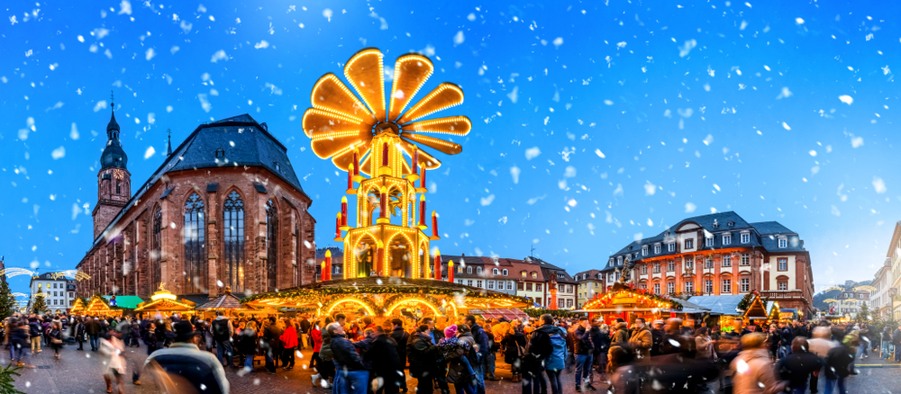 Christmas Market in Heidelberg, Baden-Württemberg, Germany