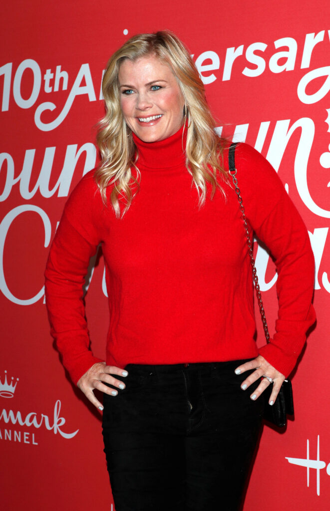 Alison Sweeney at the Hallmark 10th Anniversary Countdown to Christmas at the Grove on November 20, 2019 in Los Angeles, CA