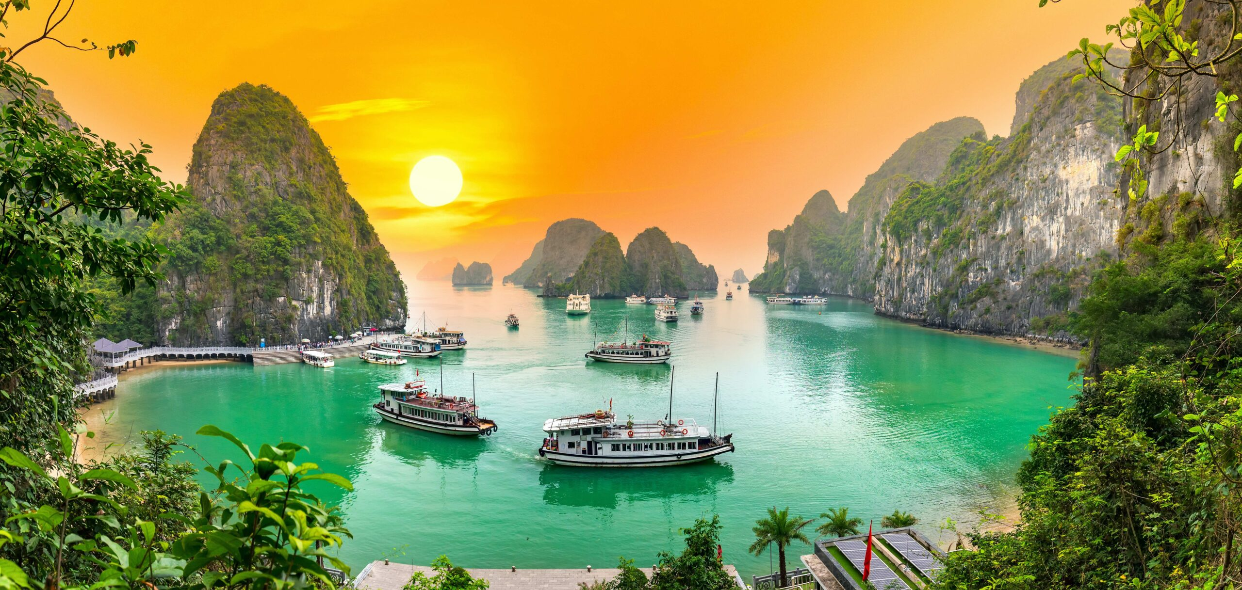 Halong Bay, Vietnam view from adove