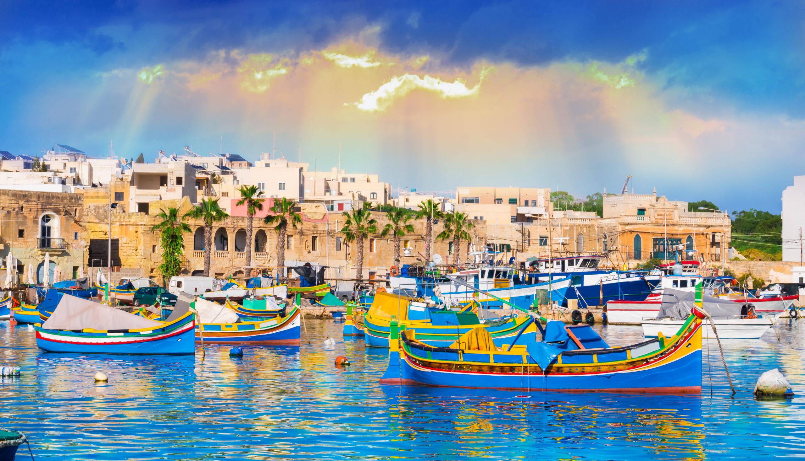Marsaxlokk Village Harbor in Malta
