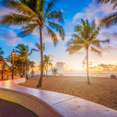 Fort Lauderdale Beach, Florida at dawn