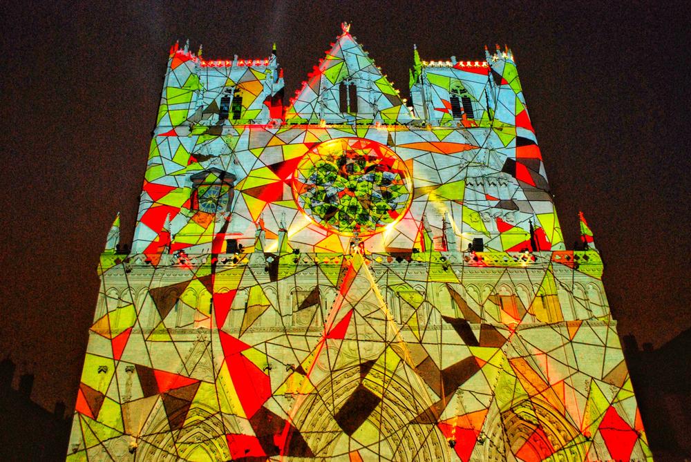 Saint-Jean Cathedral, Festival of Lights, Lyon, France