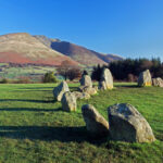 Castlerigg Stone Circle is situated near Keswick, Cumbria in the English Lake District national park.