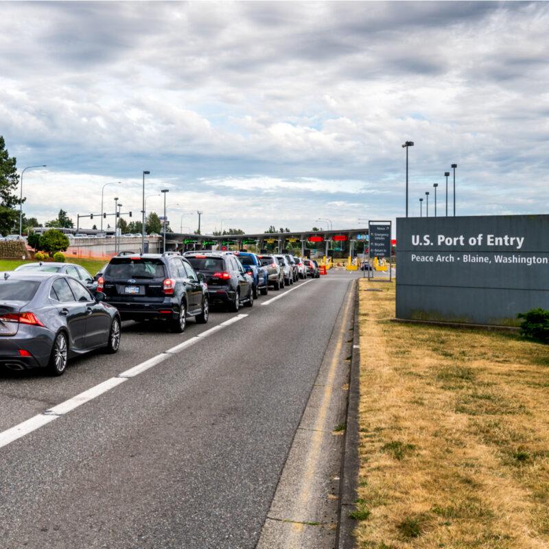 U.S. Port of Entry, Vancouver-Blaine Highway.